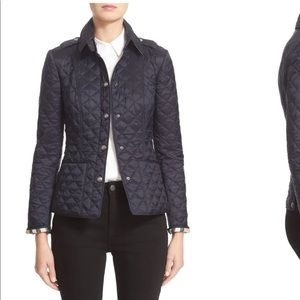 Burberry 'Kencott' Patch Pocket Quilted Coat